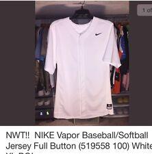 Nwt! Nike Vapor Baseball/Softball Jersey Full Button White Xs