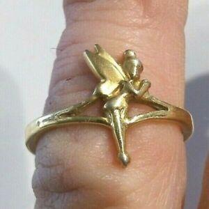 VINTAGE WALT DISNEY TINKER BELL GOLD PLATED RING