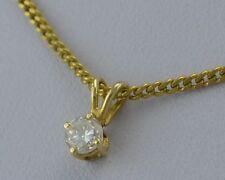 Kette mit 0.25 ct. Diamant-Anhänger / 333er 8 K Gold / ca. 42 cm