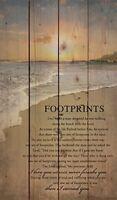 Footprints in the Sand Beach Scene 24 x 14 Wood Pallet Design Art Sign Plaque