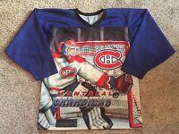 Rare Vintage 90s CCM NHL Montreal Canadiens Fanimation Hockey Jersey Mens Sz S/M