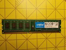 Memoire RAM Crucial 4 GB x1 DDR3L-1600 CT51264BD160B pour ordinateur de bureau