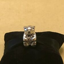 "RECTO//VERSO 11X20 mm Charm pearl /"" BEAR CUB TEDDY BEAR /"" SILVER or BRASS"