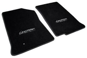 LLOYD BLACK FLOOR MATS FORD SVT SUPERCHARGED LIGHTNING 1999-04 W/ LIGHTNING LOGO