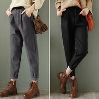ZANZEA Femme Pantalon Loose Décontracté lâche Harlan Style Taille elastique Plus