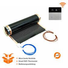 Elektrische Fußbodenheizung 100W Infrarot Heizfolie+WiFi Thermostat Laminat usw.