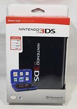 Game Vault Nintendo 3DS / 3DS xl / DSi / DSi XL Black Hard Case & 6 Card Slots