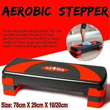 3 Level Aerobic Stepper Adjustable Yoga Step Board Gym Fitness Cardio Exercise