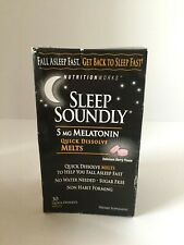 Nutrition Works Sleep Soundly 5 mg Melatonin Quick Dissolve 30 melt EXP 9/20+ A1