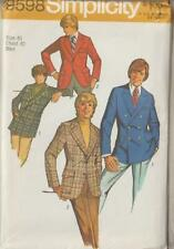 Vintage Simplicity Sewing Pattern 9598 Mens Fitted Jackets Size 40 Father's Day