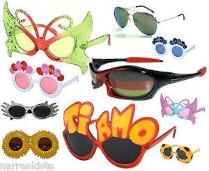 Brille Spaß Fun Witz Ulk Hippie Polizei Sonnen Sonne Fee Anzug Kleid Kostüm Hut