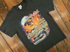 Vintage NASCAR Dale Earnhardt Champion Graphic black T-Shirt Size S-3XL TK1250