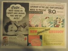 LifeBuoy Soap Ad: Gosh You'D Think He Did't Love Mummy  ! Wartime Ad from 1940's