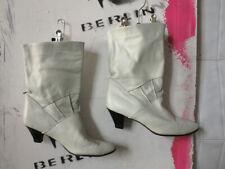 Damenschuhe Stiefeletten weiß Schuhe Stiefel Leder 80er True Vintage 80s boots