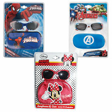 Children's Character Sunglasses and Case Uv protection for Holiday Choose Design