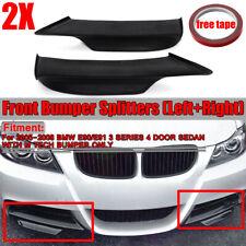 For BMW E90 E91 M-Tech 05-08 Unpanited Black Front Bumper Splitter Spoiler Lip