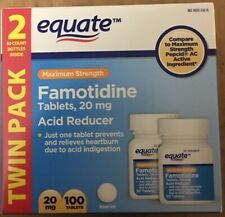 Famotidine 20mg Acid Reducer Max Str Equate Brand (Pepcid AC compare) 100 Count