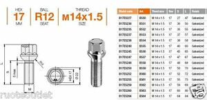 Dal 02//2011 Al 2017 4G - 4G1 BULLONI ANTIFURTO M14X1,50 AUDI A6 Avant