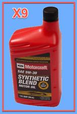 9X OEM FORD Engine Motor Oil Motorcraft XO5W30QSP SAE 5W-30 Premium Synthetic
