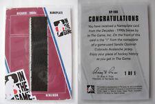 2012-13 ITG Decades NP-168 Ozolinsh Sandis 1/1 I letter nameplate 1 of 1 LATVIA