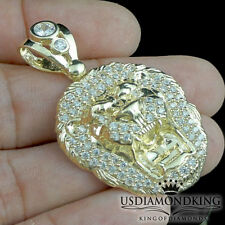 Men's Women's 10k 100% Real Solid Yellow Gold Lion Head Charm Pendant New 1.62""