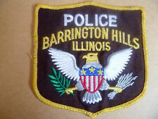 Patches: BARRINGTON HILLS ILLINOIS US POLICE PATCH (NEW. apx. 10x10.5 cm)