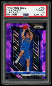 Luka Doncic 2018-19 Panini Prizm Purple Ice Rookie RC /149 PSA 10 GEM MINT