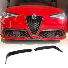 For Alfa Romeo Giulia Sport 15+ Carbon Fiber Fog Light Splitter Cover Canard Fin