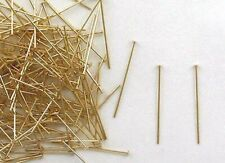 "Gold Filled Head Pins 1.5 ""x 22 Gauge Domed Head for Earring Making"