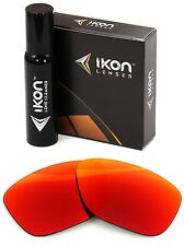 Polarized IKON Iridium Replacement Lenses For Oakley Garage Rock + Red Mirror