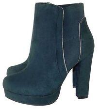 Block Heel Suede Shoes Elasticated for Women