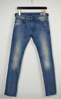 DIESEL THAVAR SLIM-SKINNY 008W7_STRETCH Men's W30/L34 Ripped Jeans 29103_JS