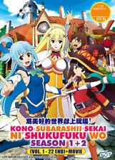 Kono Subarashii Sekai ni Shukufuku wo! DVD Season 1+2 + Movie - *English Dubbed*