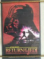 "Star Wars ""Return of the Jedi"" Vader 22"" x 34"" 1983 Vintage - Free Shipping!"