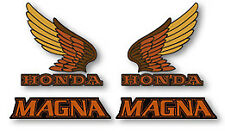 1984 Honda VF700C MAGNA Decal Set Fuel Gas Tank Side Cover Decals RED BLACK