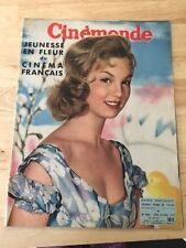 RARE FRENCH MAGAZINE CINEMONDE MYLENE DEMONGEOT 04/1957