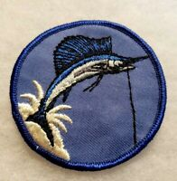 Vintage NOS 1970's SAILFISH Patch Hat Jacket Logo Embroidered Patch Ocean