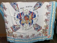 QUEEN ELIZABETH 2 - Commemorative CORONATION Scarf 1953 - vintage