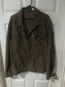 Levis Medium Brown Corduroy Jacket XXL