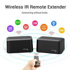 Wireless IR Remote Extender Repeater HDMI Transmitr Receiver Kit Blaster Emitter