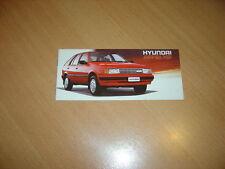 CATALOGUE (petit) Hyundai Pony XP en néerlandais