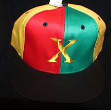VTG Org 90's Snapback Hat Cap DEADSTOCK MALCOM X Cross Colours Spike Lee RARE
