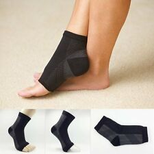 AU Mens Womens Ankle Compression Foot Sleeve Socks Arch Heel Pain Relief Support Male 5-9.5