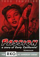 YVONNE De CARLO • PASSION • 1954 • RKO • Complete, Unfolded • Cornel Wilde