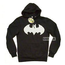 Official DC Comics BATMAN Mens Black Hooded Jumper TOP HOODIE Primark Brand NEW