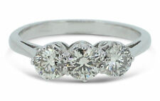 Three-Stone Excellent Not Enhanced SI1 Fine Diamond Rings