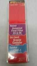 Filtrete Vacuum Filter Replacements Hoover Universal, Dirt Devil Breeze,Eureka