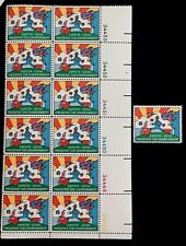 US Stamps, Scott #1527 10c 1974 Plate Block of 12 & single XF/Sup M/NH