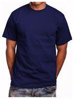 Men's HEAVY WEIGHT T-Shirt Plain Blank Crew Neck Lot Cotton Fashion Camo Casual