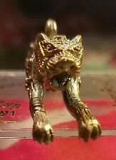 Thai Brass Tiger Amulet Pendant Magick